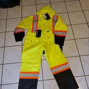 Men's hi vis Rain Suit